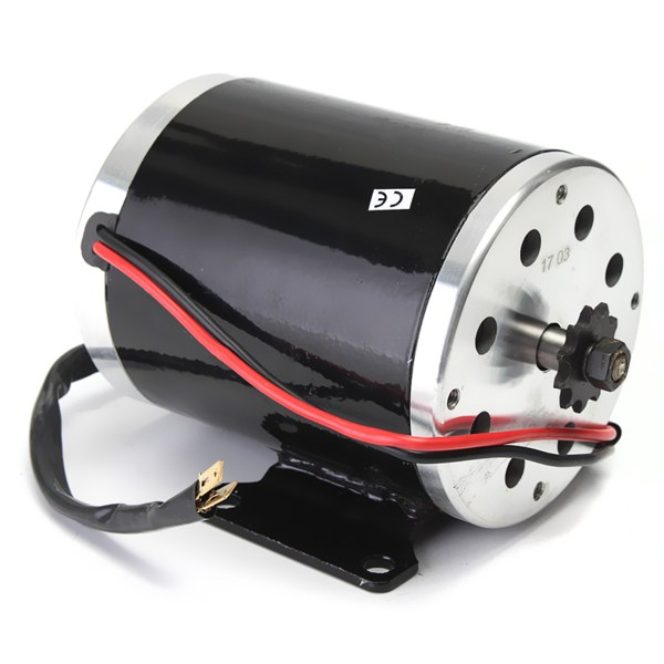 36V 500W MY1020 Electric Brushed Motor 2500Rpm w/ bracket For Scooter E-Bike Mini Bike Go Kart 1