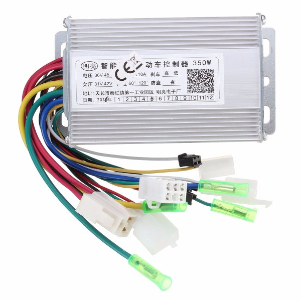 350W 36V/48V Brushless Controller For Scooter E- bike With/Without Hall Sensor 1