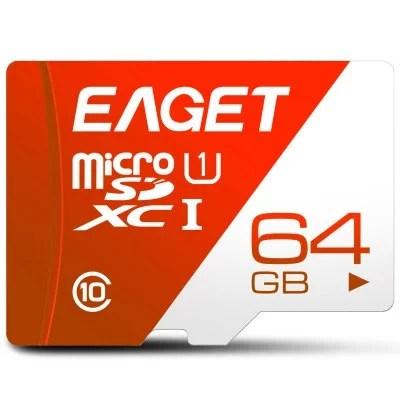 EAGET T1 Memory Card   32GB 64GB 128GB  Class 10 TF Card 1
