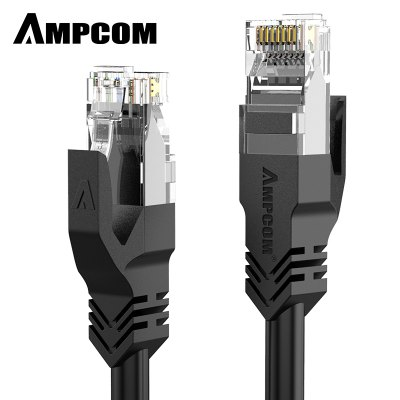 AMPCOM Premium Series CAT6 Ethernet Cable Network Cable UTP 50u Gold Plated Snagless Patch Cord 1