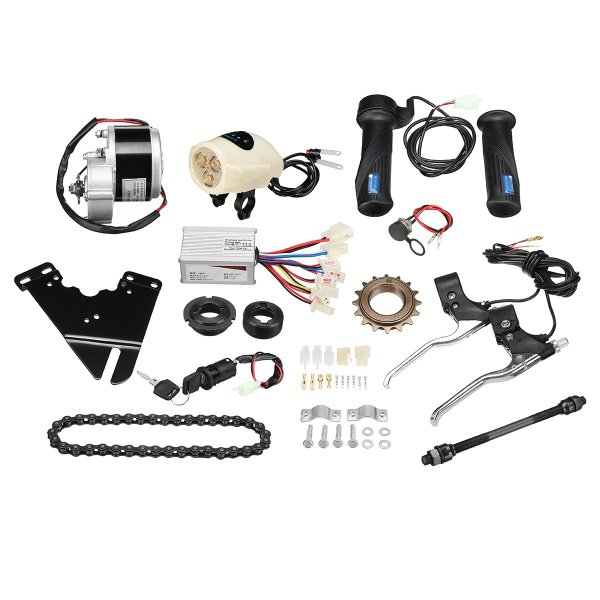24V 250W Electric Bike Conversion Scooter Motor Controller Kit For 22-28inch Ordinary Bike 1