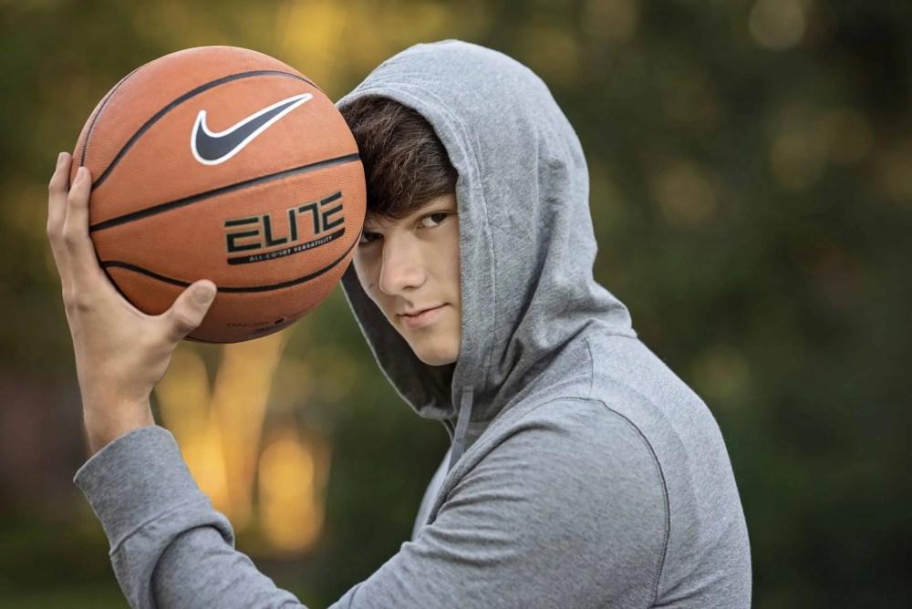 High School Senior Boy Photography Basketball