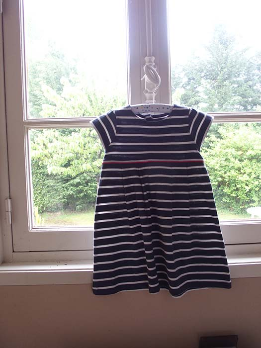 Baby mariner t-shirt dress -- for Ella