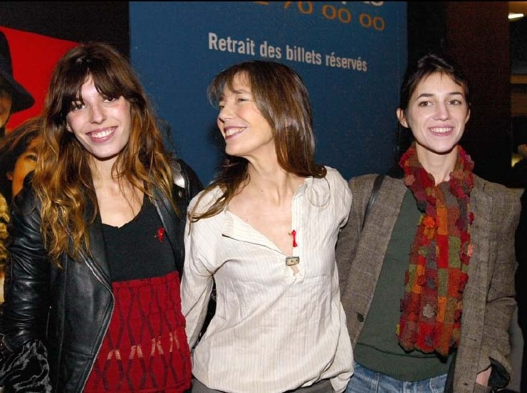 Jane Birkin and daughters