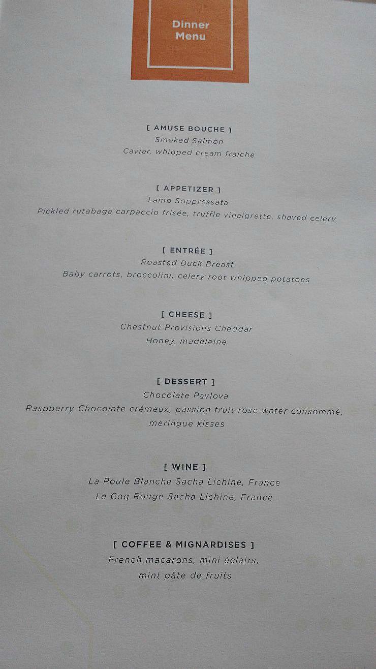 FACC menu