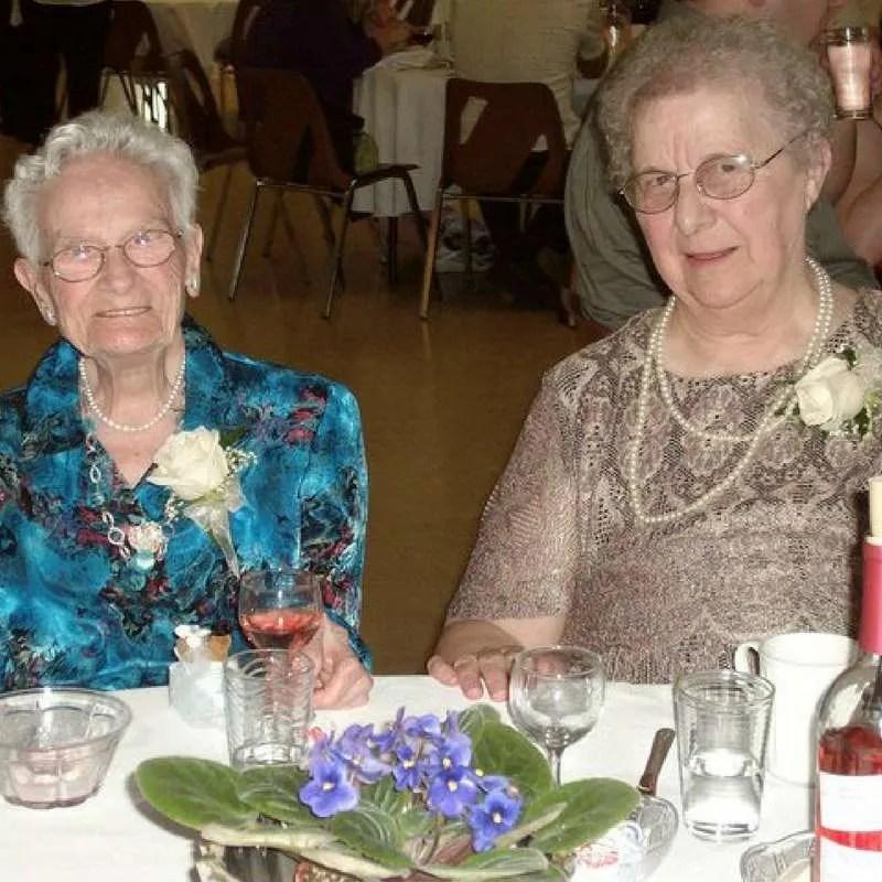 Nanny Webber (left) & Nanny (right) at my wedding reception in September 2010