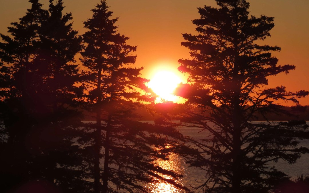 The sun sets on the end of our Vacation in Nova Scotia