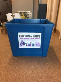 Bin for empties to recycle for BTRC