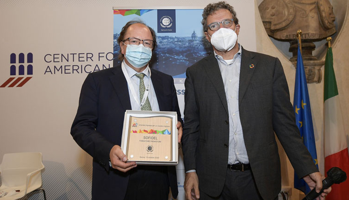"""Sofidel receives recognition for its commitment as a """"Promoting Founder"""" member of the Global Compact Network Italy, Sofidel receives recognition for its commitment as a """"Promoting Founder"""" member of the Global Compact Network Italy"""
