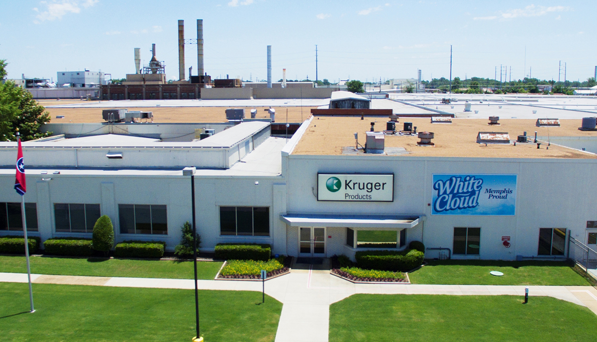 , Kruger Products' Memphis site announces new facial tissue line