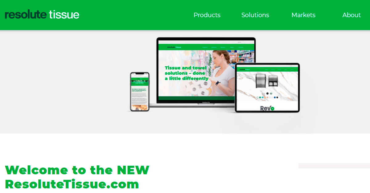 , Resolute Tissue releases new website