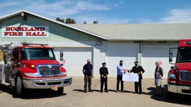 , Paper Excellence makes donation to volunteer fire department after Cloverdale wildfire