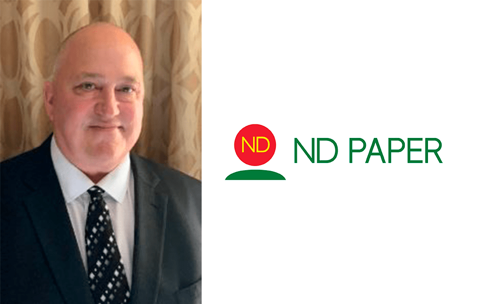 , ND Paper Names Tom Pazdera as VP and GM of Rumford Division
