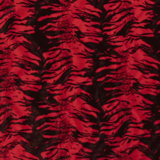 Fourrure velboas tigre rouge