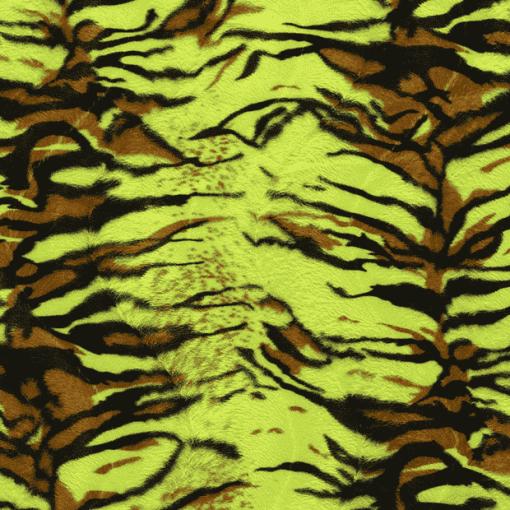 Fourrure velboas tigre vert