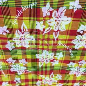Coton imprimé madras fleuri