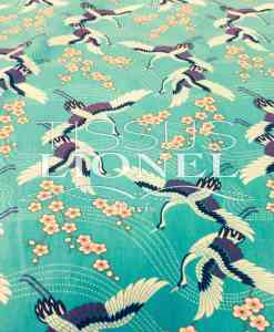 PRINTED COTTON SPRING GREEN