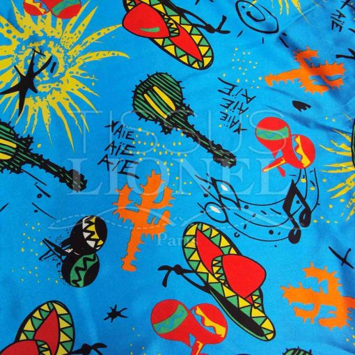 Carnaval mexique bleu