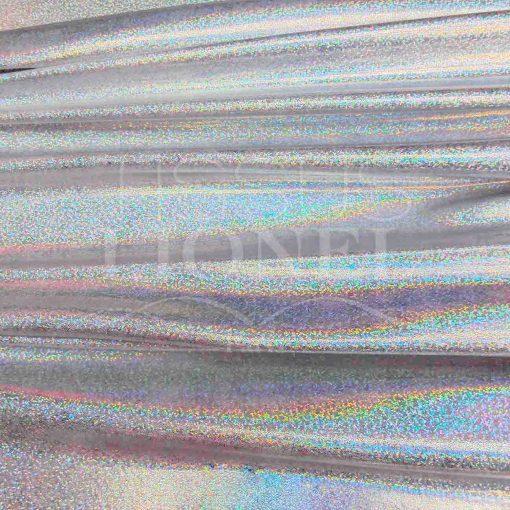 Lycra pailleté multipoint série 1 fond blanc pailleté irisé hologramme