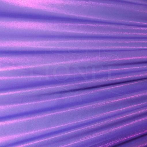Résille laqué pailleté fond violet pailleté fushia