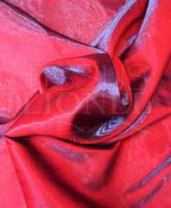 Satin changeante rouge bleu