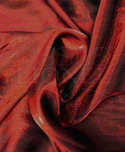 Satin changeante rouge noir