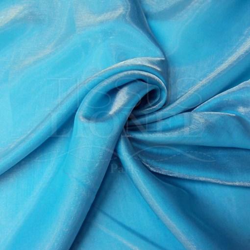 Satin changeante turquoise
