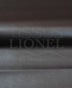 Imitation leather solid brown