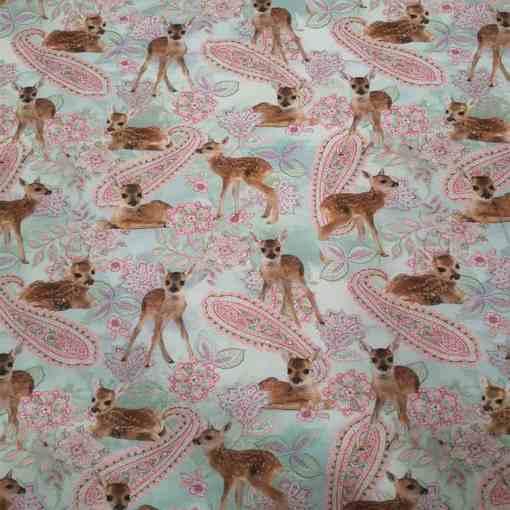 Tissu jersey de coton bambi