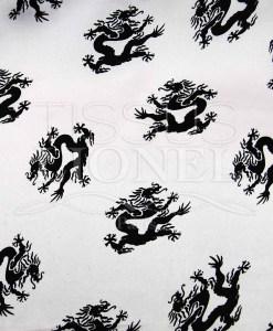 carnaval dragons noir sur fond blanc