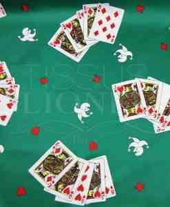 carnaval jeux de carte sur fond turquoise