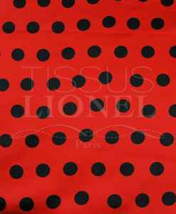 Carnival black dots on red background