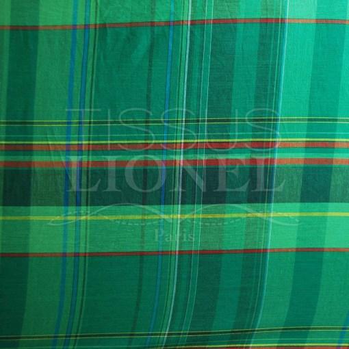coton imprimé madras 018
