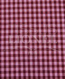 coton imprimé vichy bordeaux et rose 017