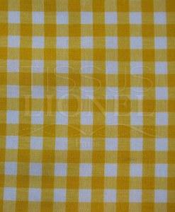 coton imprimé vichy jaune 022