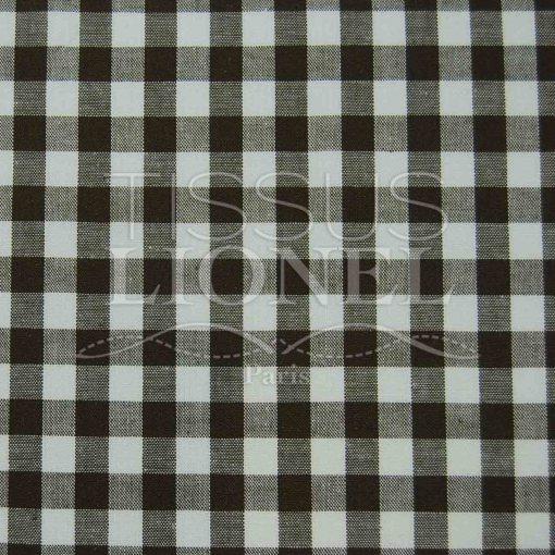 coton imprimé vichy marron 029