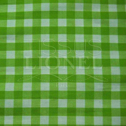 coton imprimé vichy vert 001