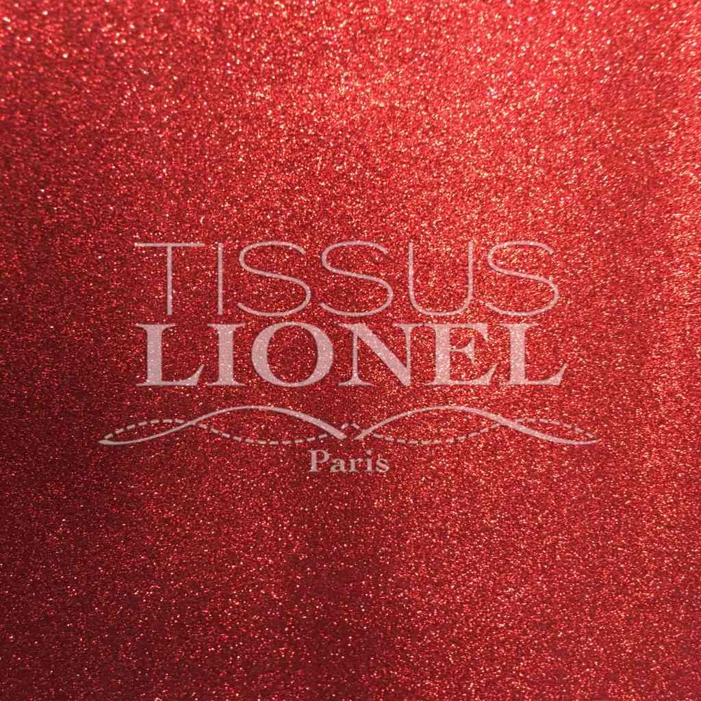 Cotton Glitter Rosso Sfondo Rosso Lionel Tessuti