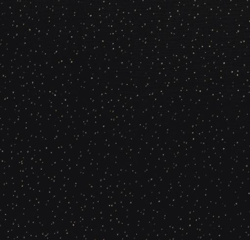 Double gaze pailleté noir