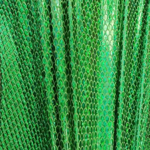 Élasthanne paillete hologramme sirène vert