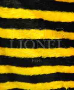 fourrure imprimé abeille