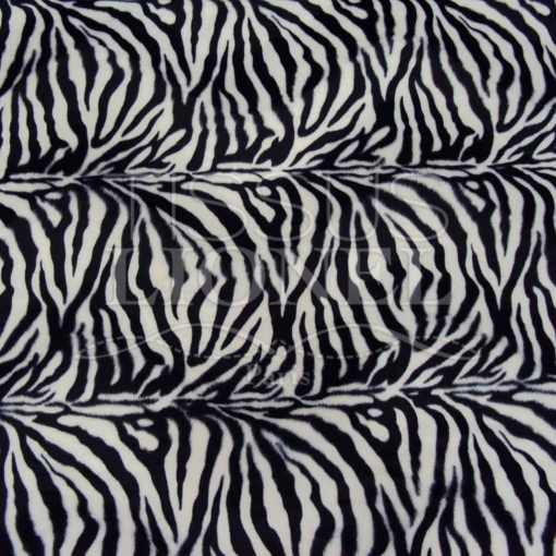 fourrure imprimé velboas petite zebré