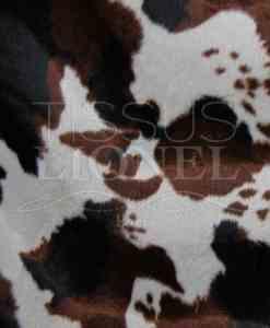 напечатанный мех velboas коричневый корова