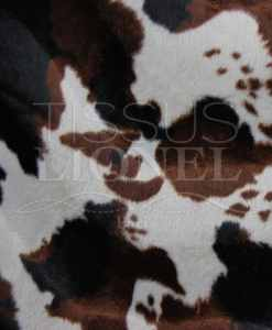 printed fur velboas brown cow