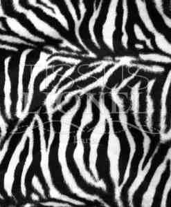 fur printed velboas zebré