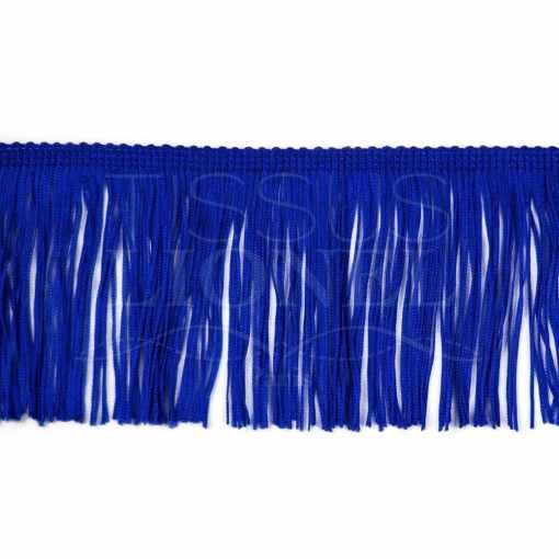 frange 10 cm bleu royal