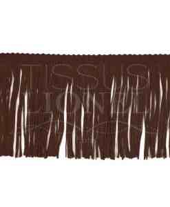 frange 10 cm marron