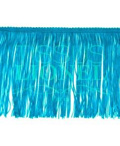 frange 15 cm turquoise