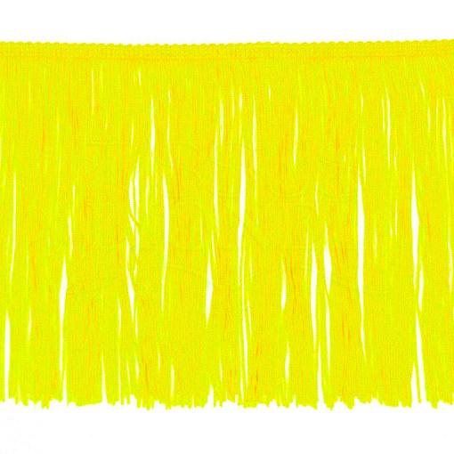 frange 20 cm jaune citron