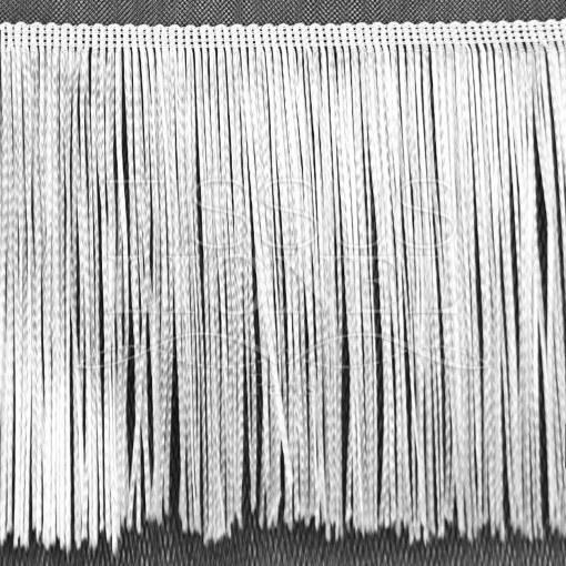 frange 30 cm blanc